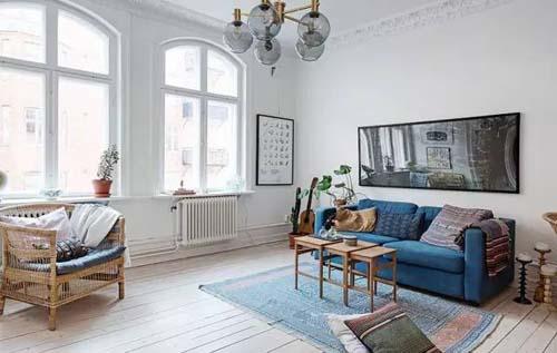2017北欧风格客厅装修室内设计图大